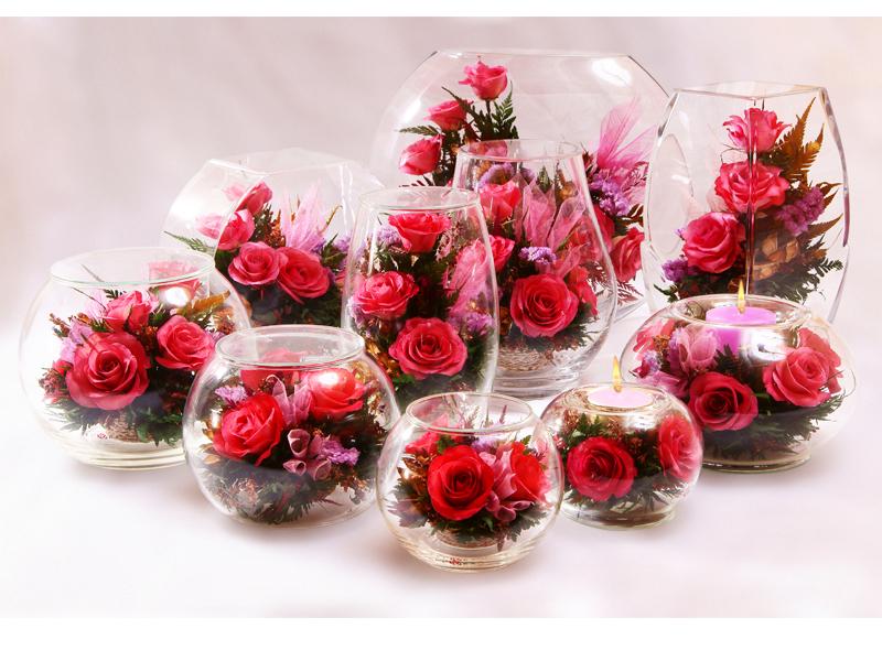 Цветы в стекле в новосибирске купить плетистые розы купить в хабаровске